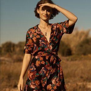 Maeve Anthropologie Floral Buttondown Shirtdress S
